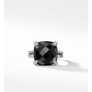 Chatelaine® Ring with Black Onyx and Diamonds 1 alternative image