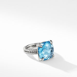 Chatelaine® Ring with Blue Topaz Diamonds 1