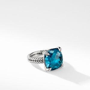 Ring with Hampton Blue Topaz and Diamonds