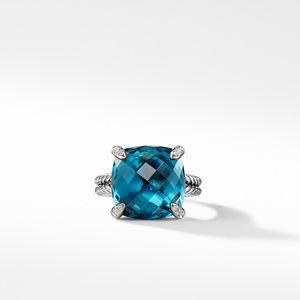 Ring with Hampton Blue Topaz and Diamonds alternative image