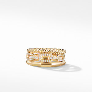 Stax Narrow Ring with Diamonds in 18K Gold, 9.5mm alternative image