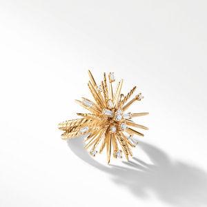 Supernova Ring with Diamonds in 18K Gold