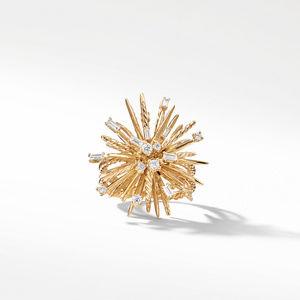 Supernova Ring with Diamonds in 18K Gold alternative image