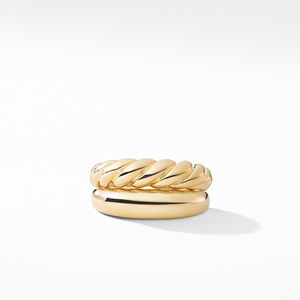 Pure Form Stack Rings in 18K Gold alternative image