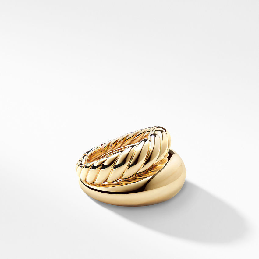 Pure Form Two Row Ring in 18K Gold