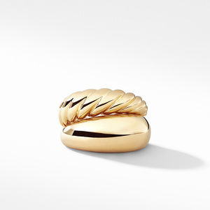 Pure Form Two Row Ring in 18K Gold alternative image