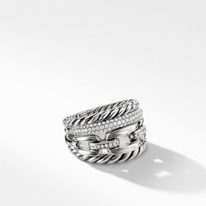 Wellesley Link™ Four-Row Ring with Diamonds