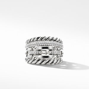 Wellesley Link™ Four-Row Ring with Diamonds alternative image