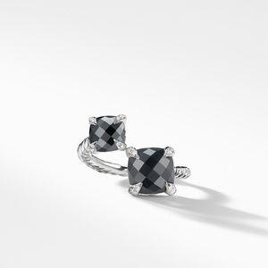 Chatelaine® Bypass Ring with Black Onyx, Hematine and Diamonds alternative image