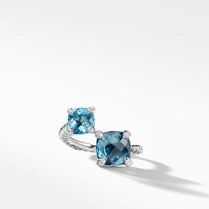 Chatelaine® Bypass Ring with Hampton Blue Topaz, Blue Topaz and Diamonds alternative image