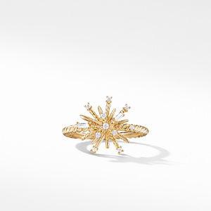 Supernova Ring with Diamonds in 18K Gold, 14mm alternative image