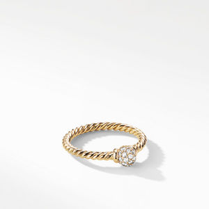 Solari Station Ring with Diamonds in 18K Gold