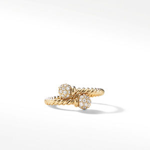 Petite Solari Bypass Ring with Diamonds in 18K Gold alternative image