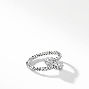 Solari Bypass Ring with Diamonds in 18K White Gold