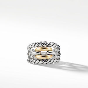 Wellesley Link Three-Row Ring with 18K Gold alternative image