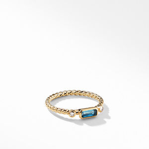 Novella Ring in Hampton Blue Topaz with Diamonds