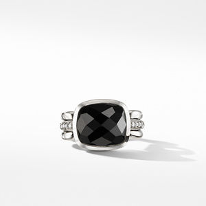 Wellesley Link Statement Ring with Black Onyx and Diamonds alternative image