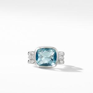 Wellesley Link Statement Ring with Sky Blue Topaz Diamonds alternative image