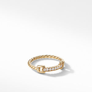 Petite Pavé Ring with Diamonds in 18K Gold