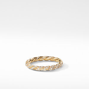 Paveflex Ring with Diamonds in 18K Gold, 2.7mm