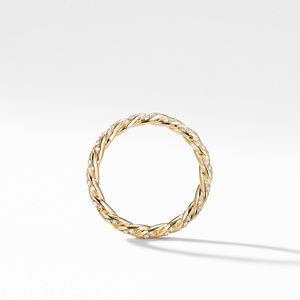 Paveflex Ring with Diamonds in 18K Gold, 2.7mm alternative image