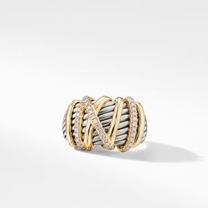 Helena Statement Ring with 18K Gold and Diamonds alternative image