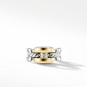 Wellesley Link Medium Chain Link Ring with 18K Gold alternative image