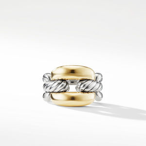 Wellesley Link Large Chain Link Ring with 18K Gold alternative image