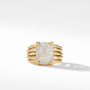 Tides Statement Ring in 18K Yellow Gold with Pavé Plate alternative image