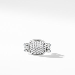 Wellesley Link Ring with Diamonds alternative image