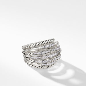 Tides Dome Ring with Diamonds