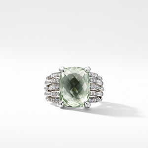 Tides Statement Ring with Prasiolite and Diamonds alternative image