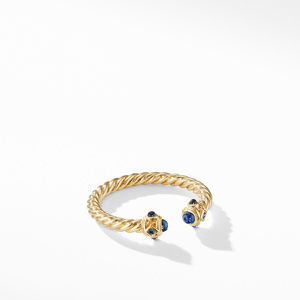 Renaissance Ring in 18K Gold with Blue Sapphires