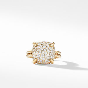 Chatelaine® Ring with Diamonds in 18K Yellow Gold alternative image