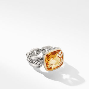 Wellesley Link Statement Ring with 18K Gold and Citrine