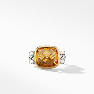 Wellesley Link Statement Ring with 18K Gold and Citrine alternative image