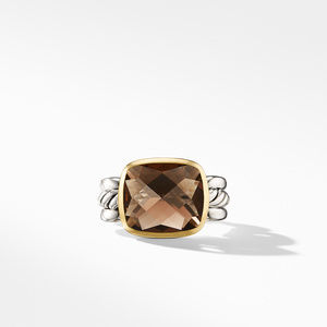 Wellesley Link Statement Ring with 18K Gold and Smoky Quartz alternative image