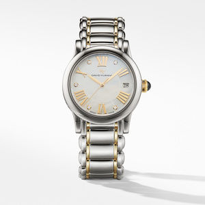Classic 3 Stainless Steel and 18K Gold Quartz Watch with Diamond Markers