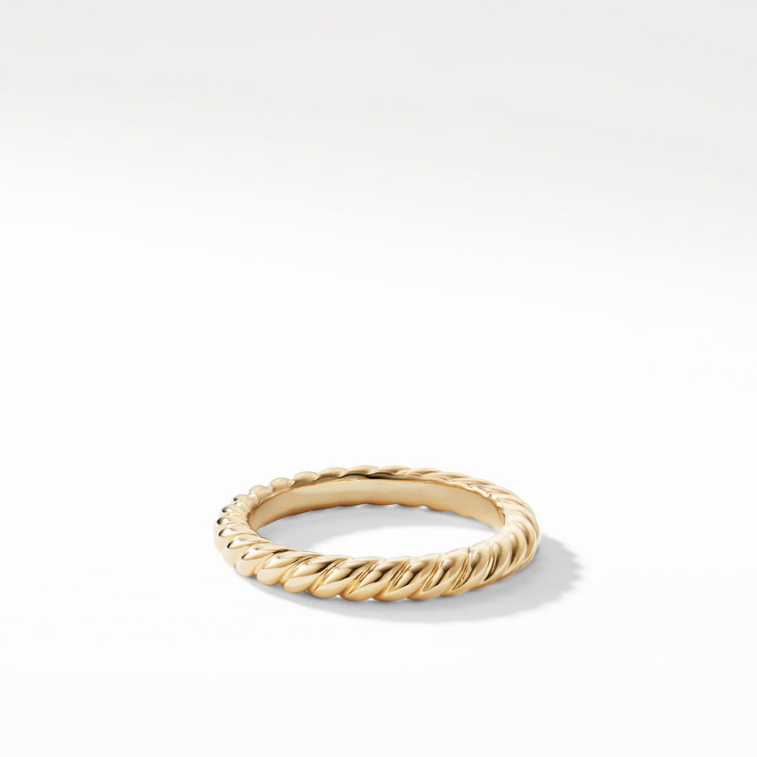 DY Unity Cable Band Ring in 18K Yellow Gold