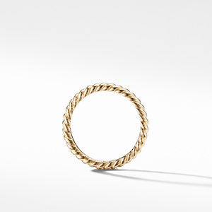 DY Unity Cable Band Ring in 18K Yellow Gold alternative image