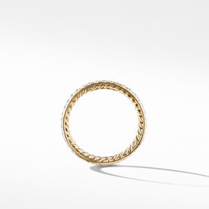 DY Eden Band Ring in 18K Yellow Gold with Diamond alternative image