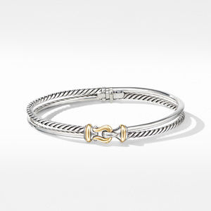 Two-Row Buckle Bracelet with 18K Yellow Gold alternative image