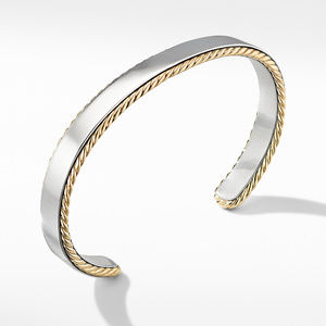 Streamline® Cable Cuff Bracelet with 18K Yellow Gold