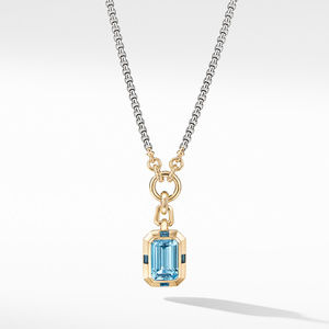 Novella Pendant with Blue Topaz and 18K Yellow Gold