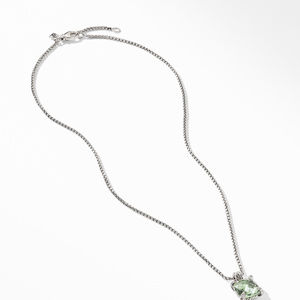 Chatelaine® Pendant Necklace with Prasiolite and Diamonds alternative image
