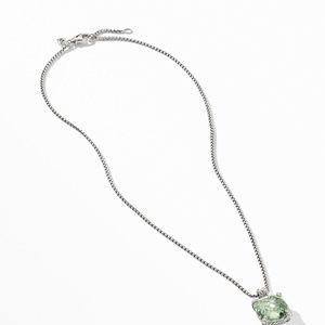 Chatelaine® Pendant Necklace with Prasiolite and Diamonds alternative image