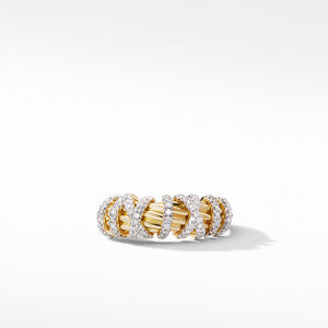 Helena Small Ring with 18K Yellow Gold and Diamonds alternative image