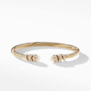 Helena End Station Bracelet in 18K Yellow Gold with Pearls and Diamonds alternative image