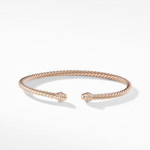 Cable Spira® Bracelet in 18K Rose Gold with Diamonds alternative image