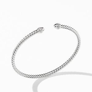 Cable Spira® Bracelet in 18K White Gold with Diamonds